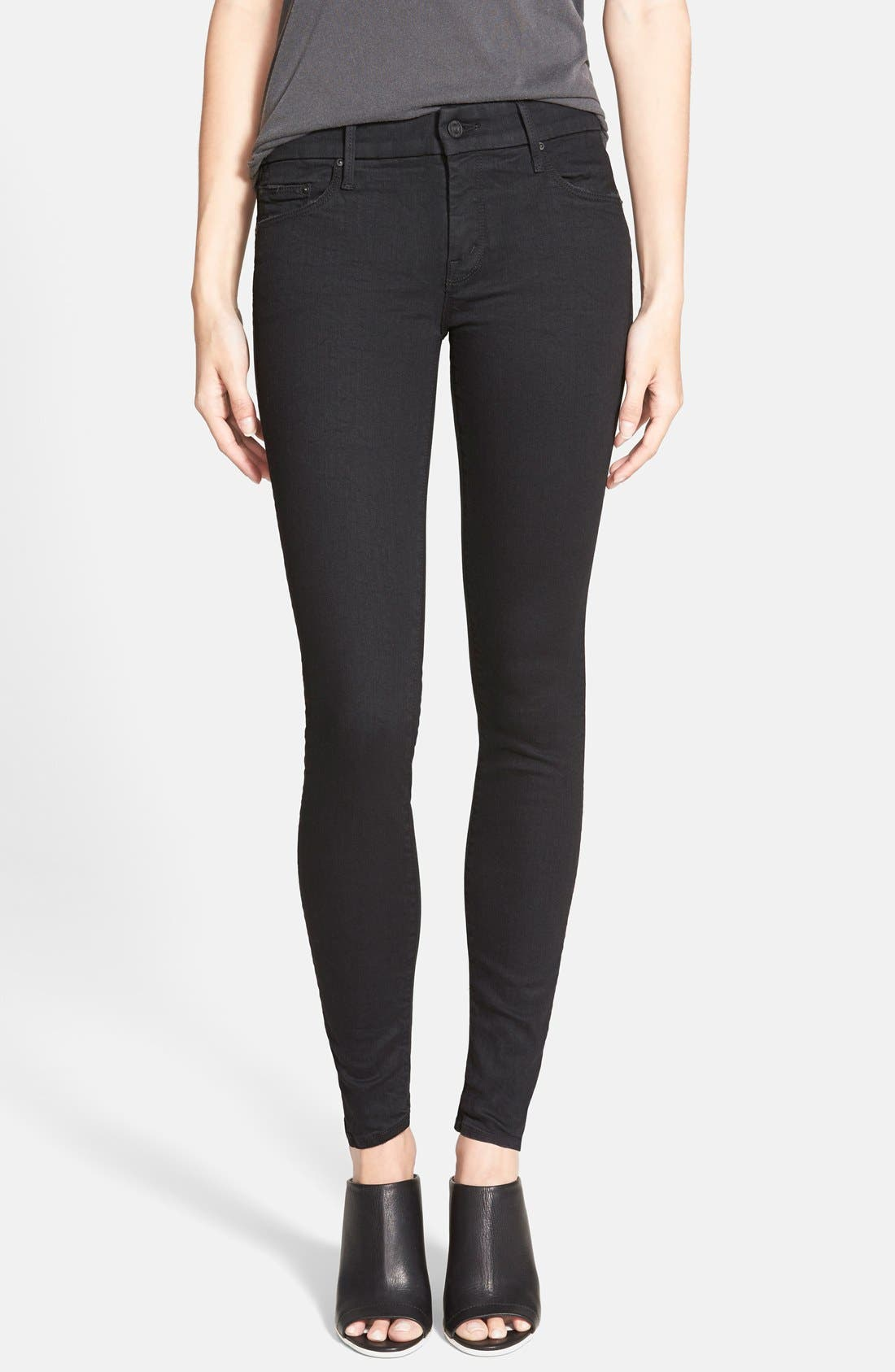 MOTHER 'The Looker' Mid Rise Skinny Jeans (Not Guilty)