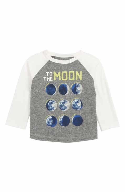 Peek Essentials Moon and Back Glow in the Dark Raglan T-Shirt (Baby)