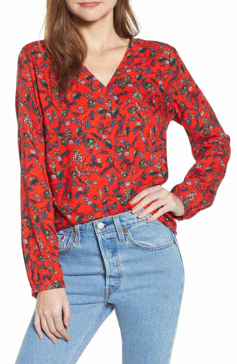 655fc74e6abfc3 red blouse | Nordstrom