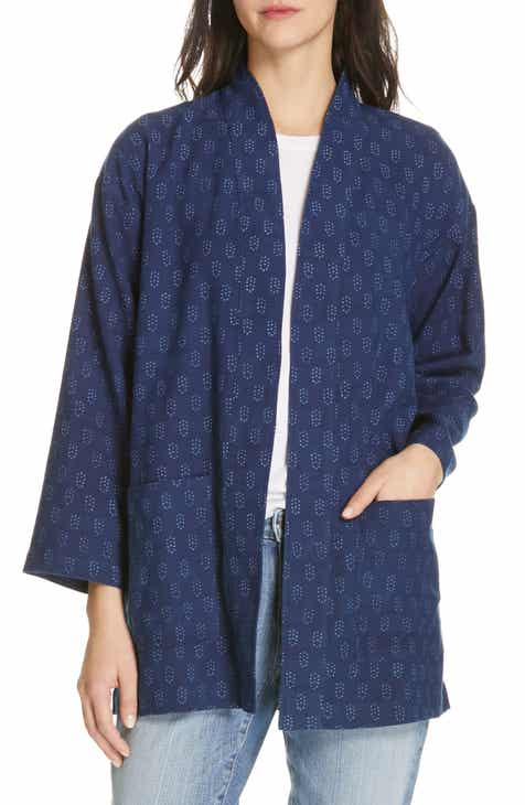 641b2870141 Eileen Fisher Organic Cotton Kimono Jacket (Regular   Petite)