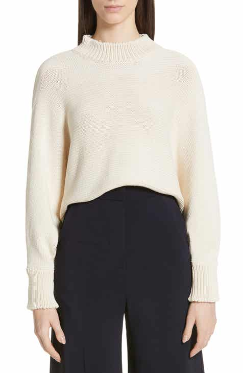 Rosetta Getty Crop Cotton Blend Sweater by Rosetta Getty