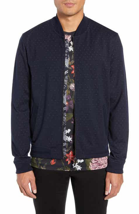 7be7e2a5e Ted Baker London Ruubes Slim Fit Bird s Eye Knit Bomber Jacket