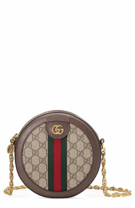 16f68e086c51 Gucci Ophidia GG Supreme Canvas Circle Crossbody Bag
