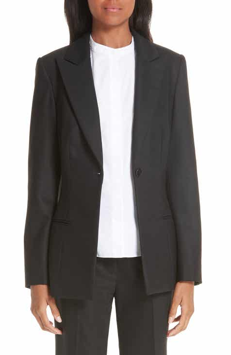 Partow One-Button Stretch Wool Gabardine Jacket by PARTOW