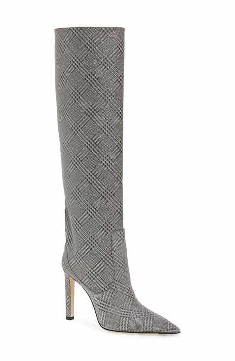 ffb972c26b8 Jimmy Choo Mavis Plaid Knee High Boot (Women)