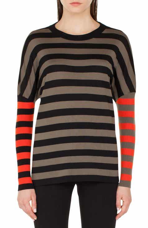 Akris punto Contrast Stripe Pullover by AKRIS PUNTO