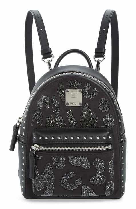 MCM X Mini Stark Crystal Glitter Coated Canvas Backpack a649d0790562c