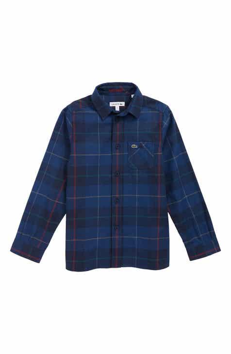 Lacoste Plaid Flannel Woven Shirt (Little Boys)