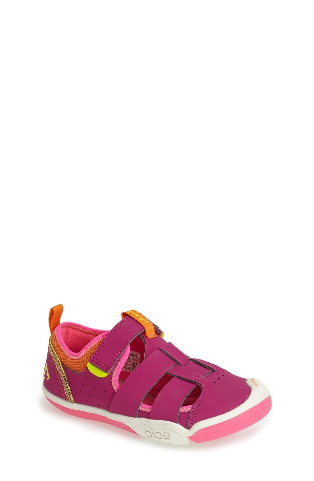 'Sam' Customizable Sneaker,                             Main thumbnail 1, color,                             Festival Fuchsia