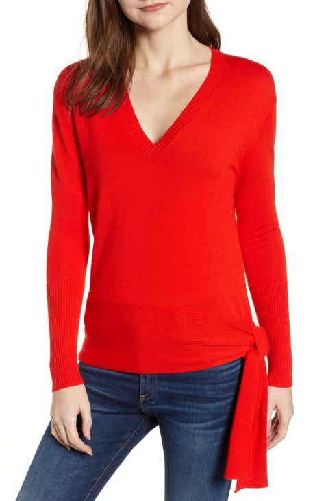 ec31652c87 Chelsea28 Side Tie V-Neck Sweater