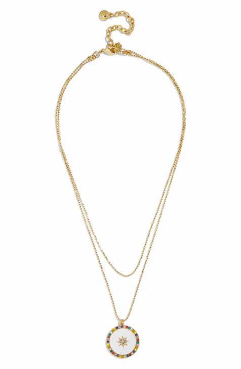 BaubleBar Michala Layered Pendant Necklace