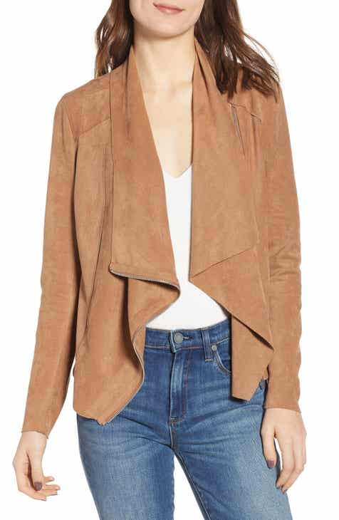 BLANKNYC Faux Suede Drape Front Jacket (Regular & Plus Size) By BLANKNYC by BLANKNYC 2019 Sale