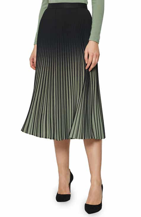 Reiss Marlie Ombré Pleated Midi Skirt by REISS