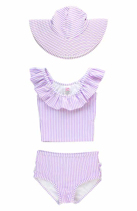 979bffad2c RuffleButts Seersucker Two-Piece Swimsuit (Toddler Girls & Little Girls)