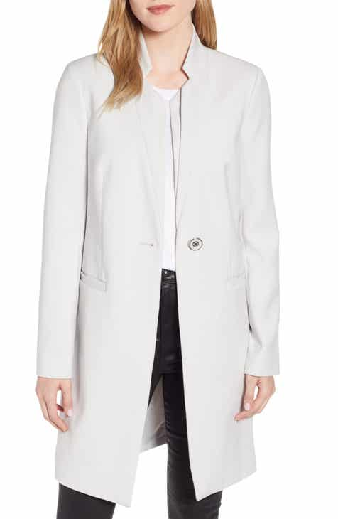 Eileen Fisher Stand Collar Organic Cotton & Silk Jacket (Regular & Petite) by EILEEN FISHER