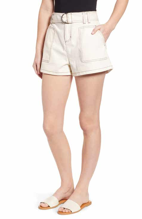 City Chic Stripe Away Cotton Blend Shorts (Plus Size) by CITY CHIC