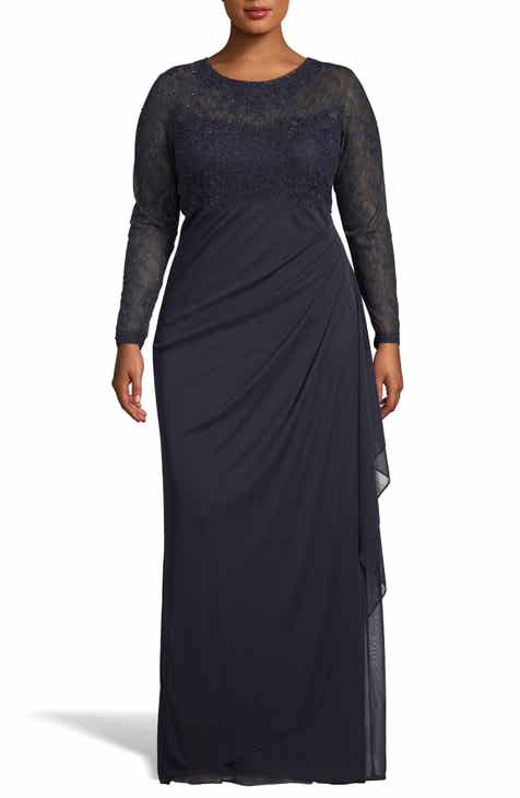 3eee6decb91 Xscape Lace Bodice Ruched Evening Dress (Plus Size)