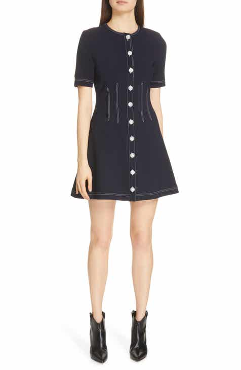 f2c01432039 Veronica Beard Mikel Contrast Stitch Minidress