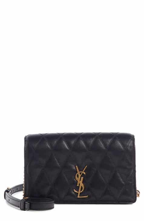 Saint Laurent Angie Quilted Lambskin Leather Crossbody Bag aee3afafe3b8