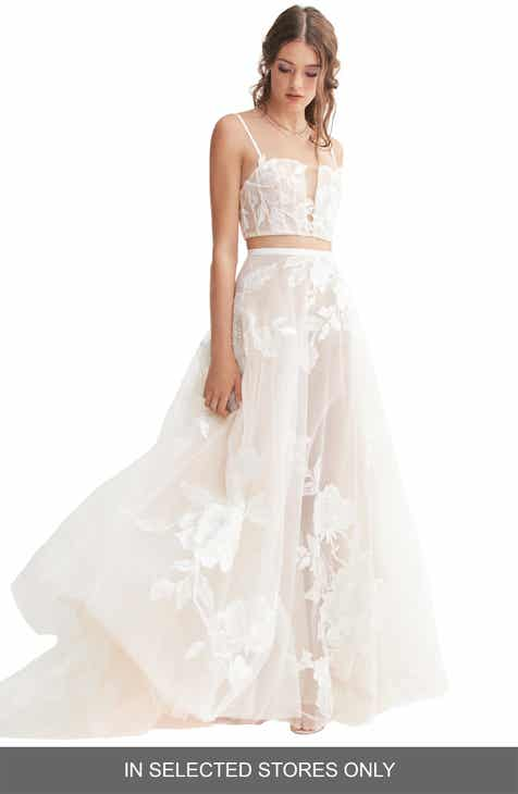 2e3520d40b428 Willowby Rai Lace & Tulle Skirt