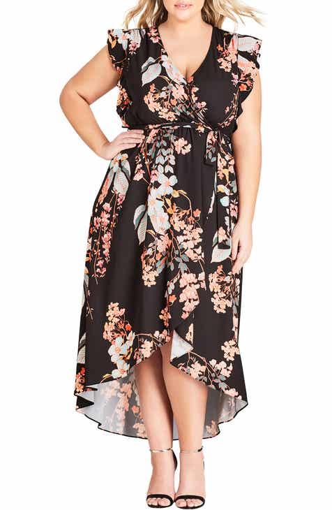 b7a8dca87600b City Chic Delilah Faux Wrap Maxi Dress (Plus Size)