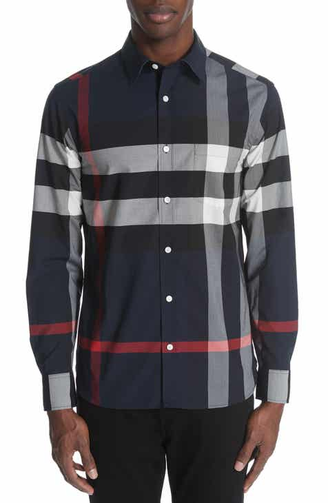 7ae1a010df9 Burberry Windsor Slim Fit Check Sport Shirt