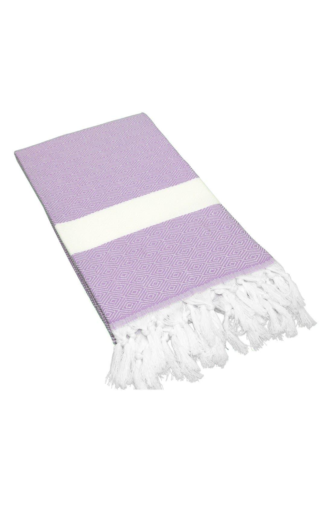 Linum Home Textiles 'Diamond' Turkish Pestemal Towel
