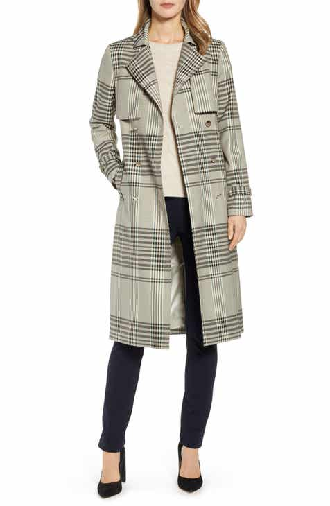 7c12574800ff79 Ted Baker London Buckle Cuff Check Trench Coat