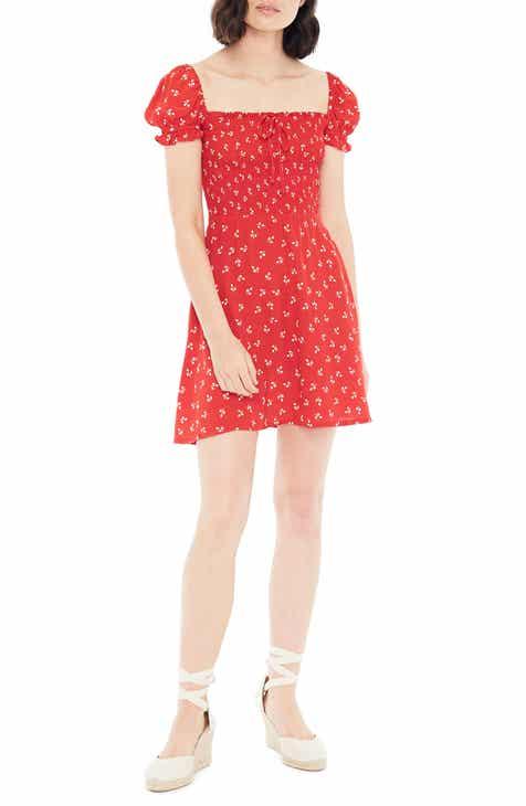ECI Ruffle Sleeve Shift Dress (Plus Size) by ECI