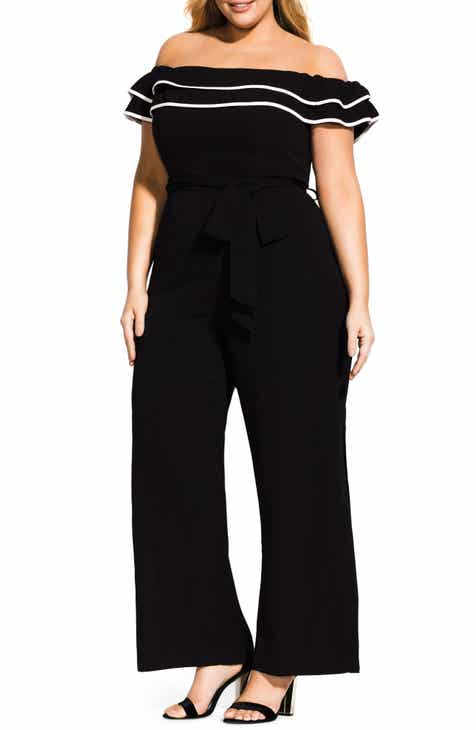 70d501d174b City Chic Demure Off the Shoulder Jumpsuit (Plus Size)