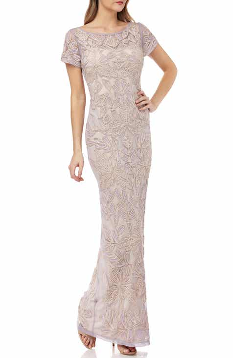 19aeb23ab88 JS Collections Beaded Soutache Evening Dress