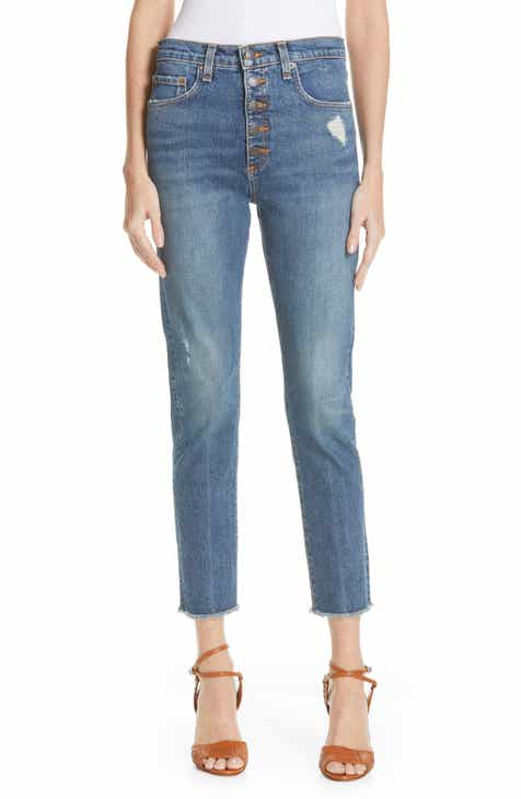 05043fb8d8 Veronica Beard Faye Distressed Skinny Jeans (Terrain)