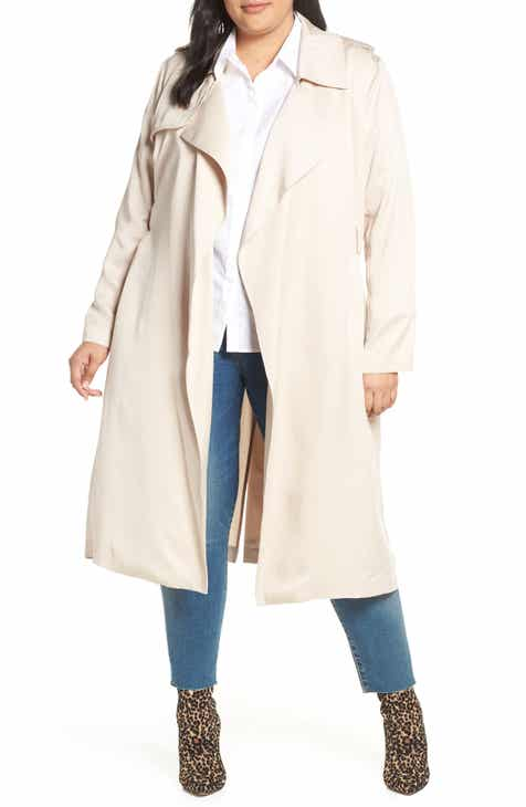 4c5a95f15460c Badgley Mischka Angelina Trench Coat (Plus Size)
