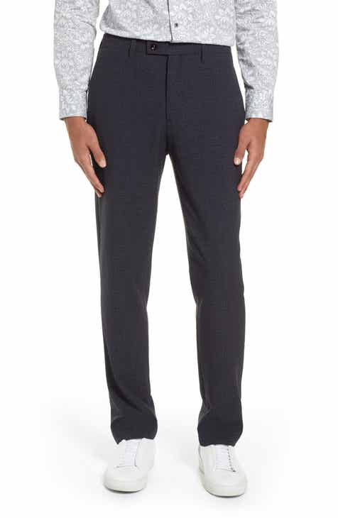 641ae13c2004 Ted Baker London Grovten Slim Fit Check Trousers