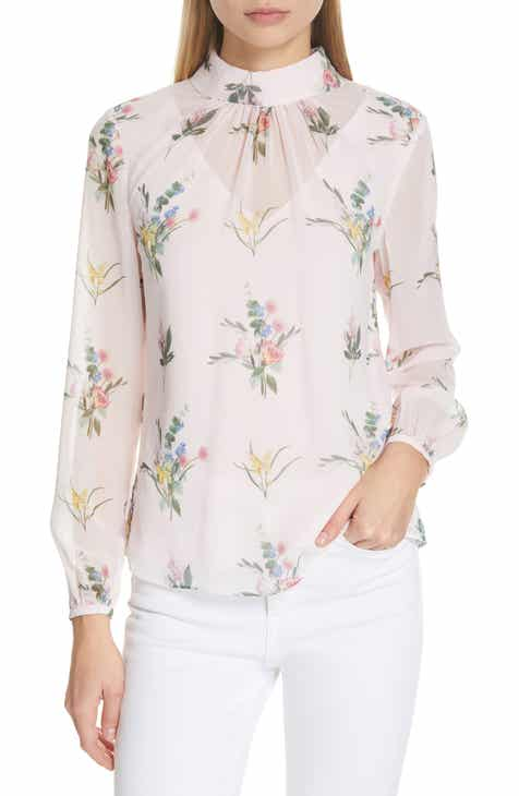 2b9866f7ab1168 Ted Baker London Zemiaa Flourish Ruched Blouse