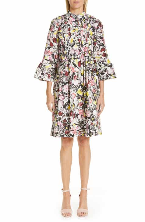 Erdem Pop Floral Print Cotton Dress