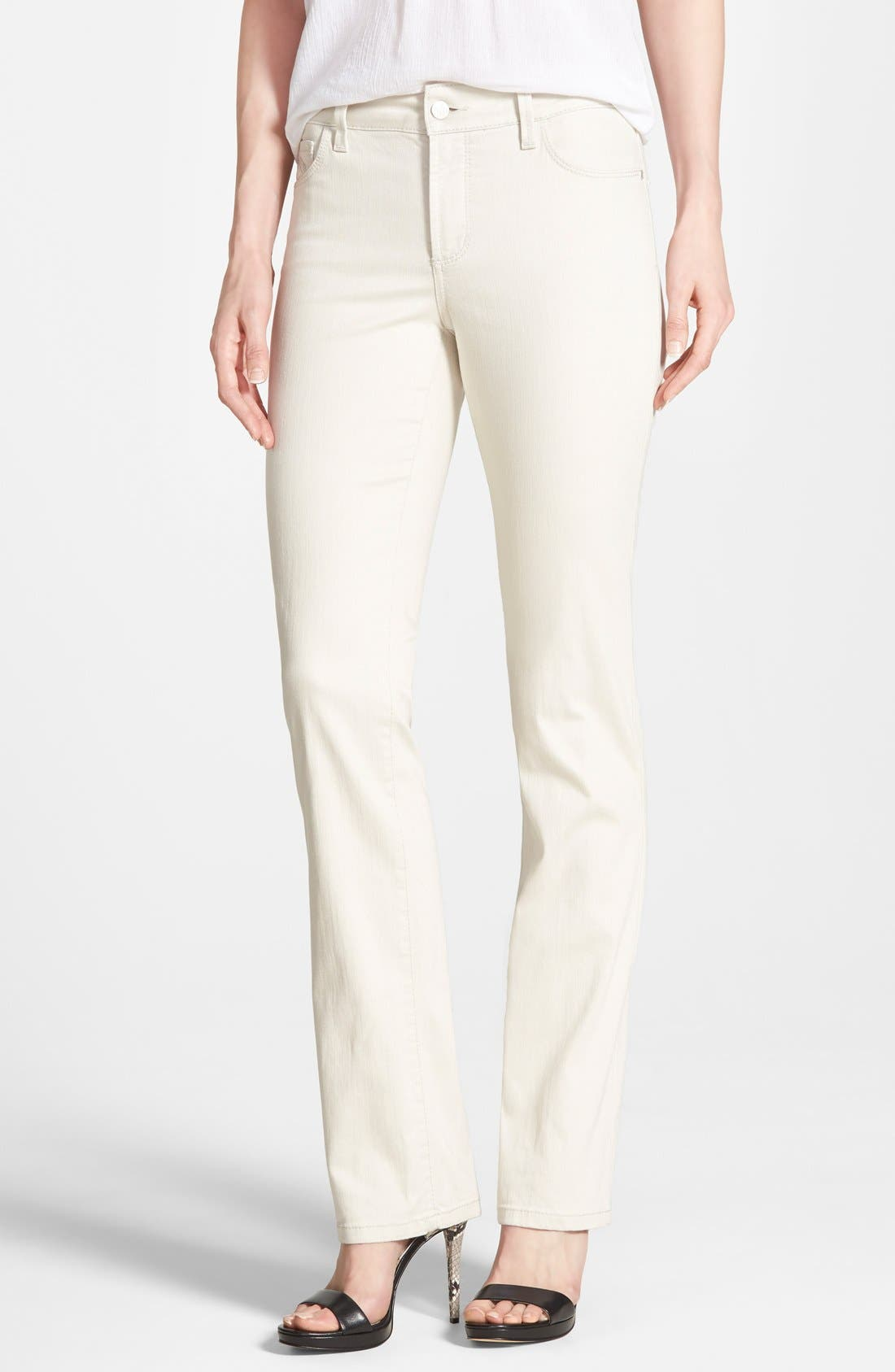 'Marilyn' Stretch Straight Leg Jeans,                         Main,                         color, Clay
