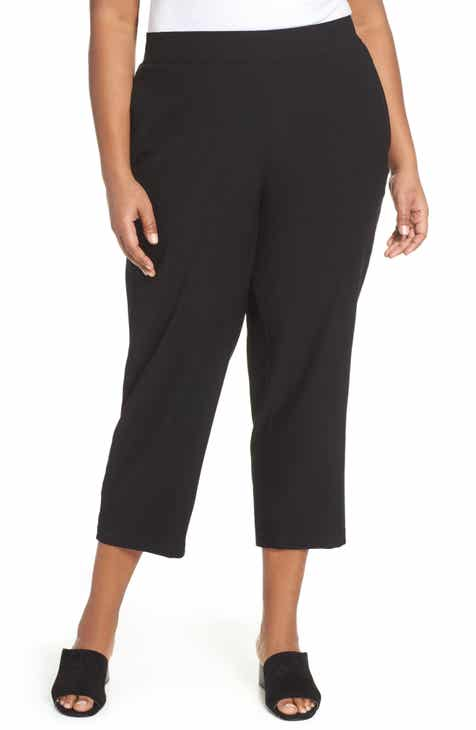 Eileen Fisher Tapered Ankle Pants (Plus Size) by EILEEN FISHER