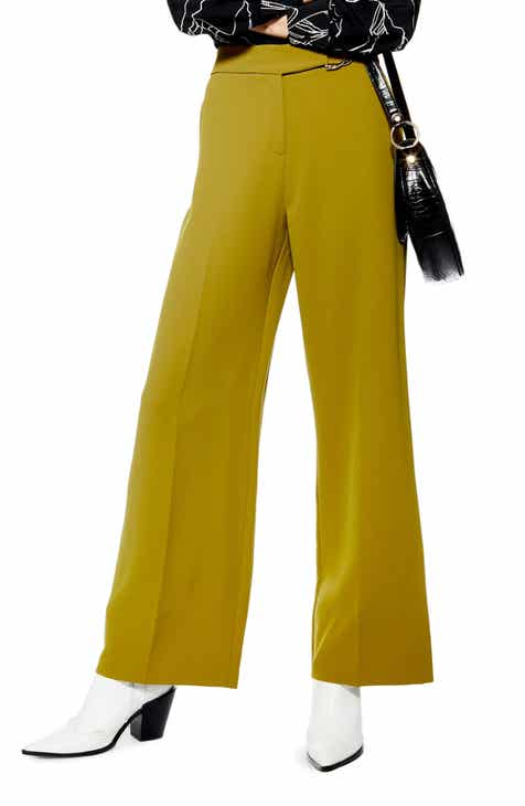 Topshop D-Ring Wide Leg Trousers by TOPSHOP