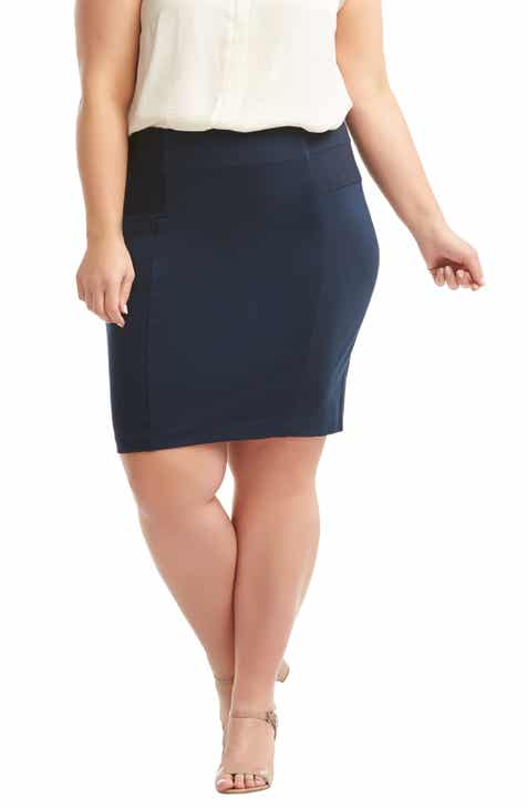 Lemon Tart Autumn Pencil Skirt (Plus Size) by LEMON TART