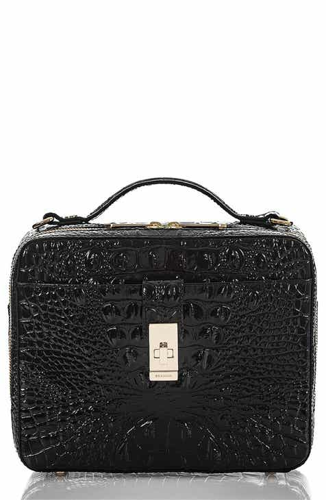 Brahmin Evie Croc Embossed Leather Top Handle Bag