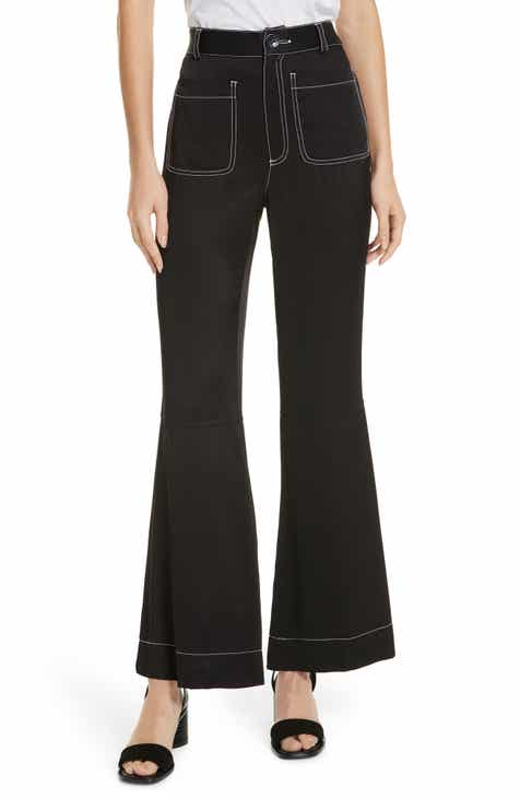 b89e6f1c7f15 See by Chloé Contrast Stitch Flare Trousers