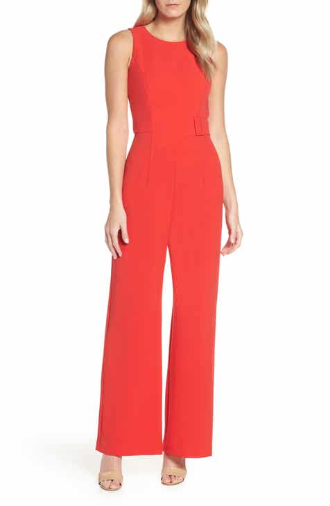 Row A Shirred Strap Crop Jumpsuit by ROW A