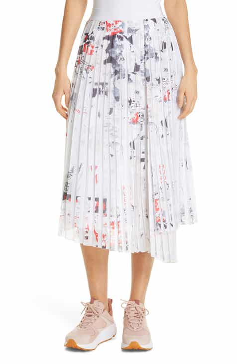 HUGO Ralissa Pleat Midi Skirt by HUGO HUGO BOSS