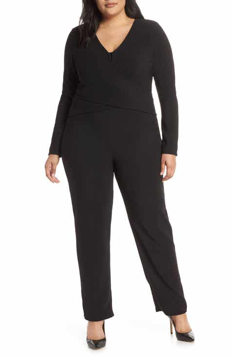 0e0456341c6f LOST INK Twist Wrap Jumpsuit (Plus Size)