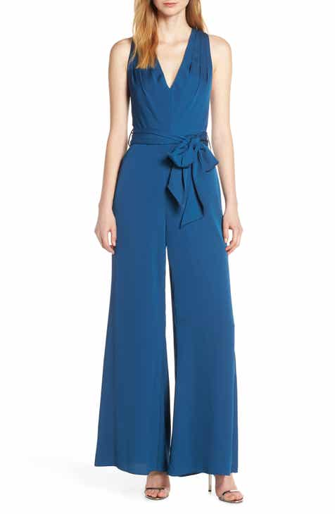 Fame and Partners Georgette Jumpsuit with Removable Cape by FAME AND PARTNERS