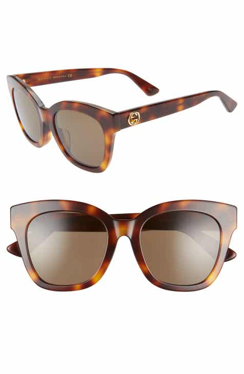 a10fe8a3fd Gucci 52mm Square Cat Eye Sunglasses