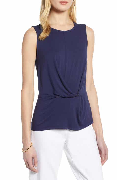 ef8fb78602e74 Halogen® Waist Detail Sleeveless Top (Regular   Petite)