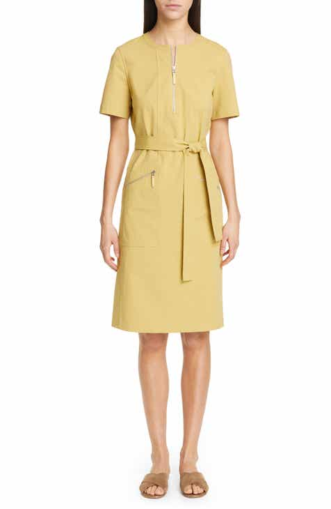 Valentino Bucaneve Tie Neck Silk Minidress by VALENTINO