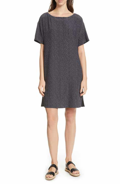 Eileen Fisher Print Shift Dress (Regular & Petite) by EILEEN FISHER